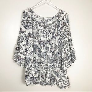 Fever Boho Floral Paisley Embroidered Blouse